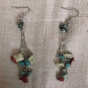 Multicolor dangle earrings